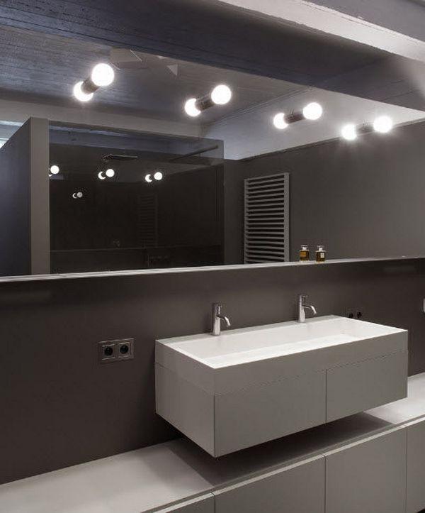 Светильники для ванной комнаты в зеркалах
