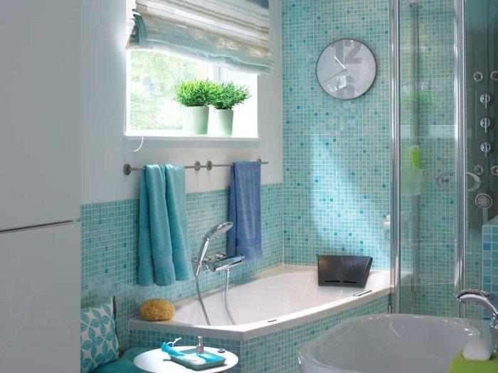 Текстиль в оформлении ванной комнаты