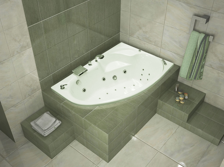 Ванна в интерьере ванной комнаты