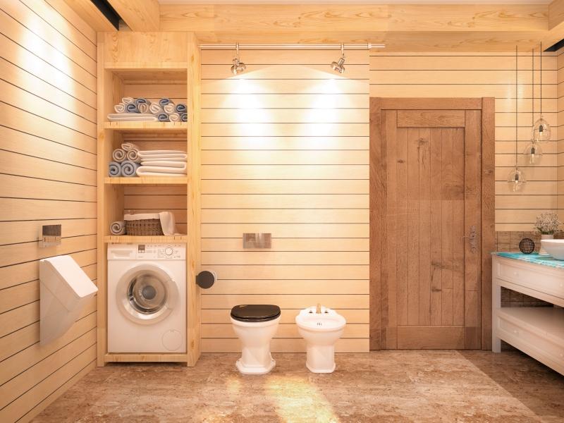 Ванная комната в деревянном доме и ее отделка