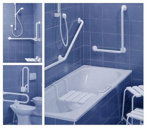 Виды поручней для ванной комнаты