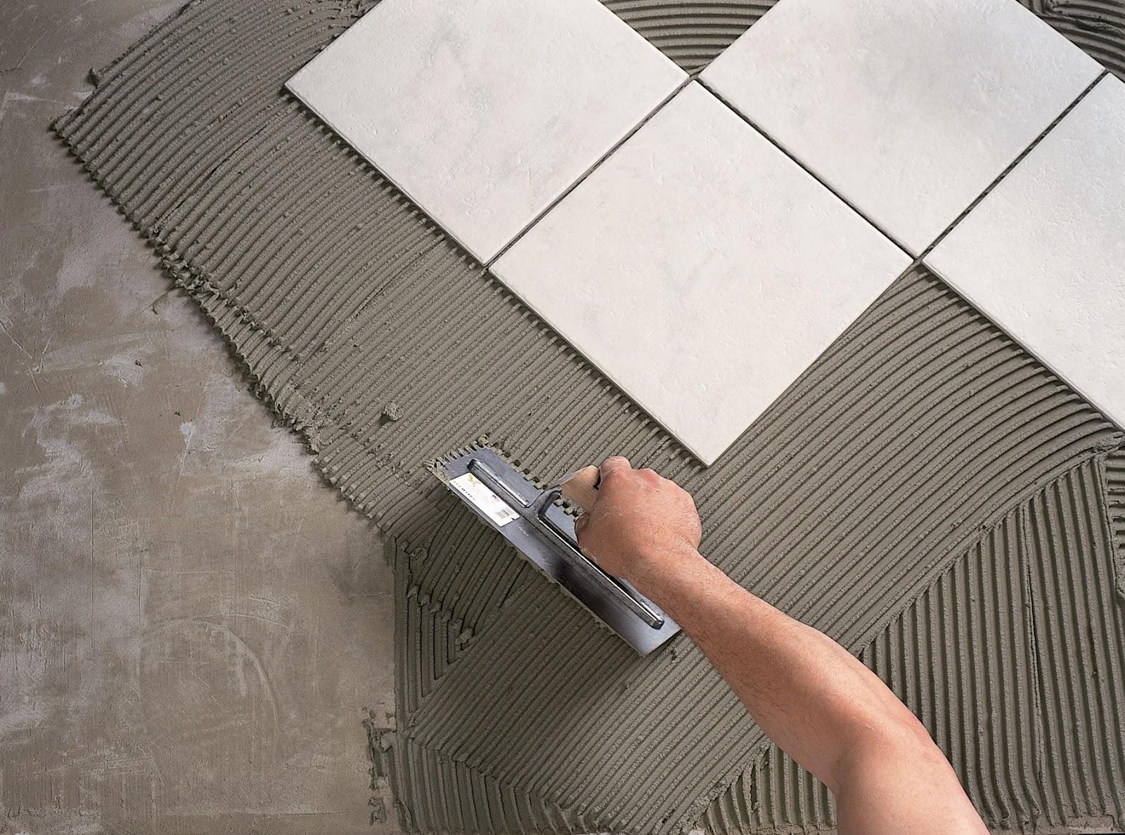 Выбор клея и толщины плитки