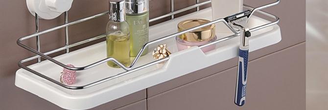Выбор полки из пластика для ванной комнаты