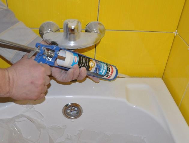 Использование водостойкого герметика