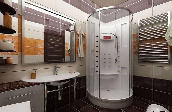 Дизайн ванной комнаты с душем 6 кв м