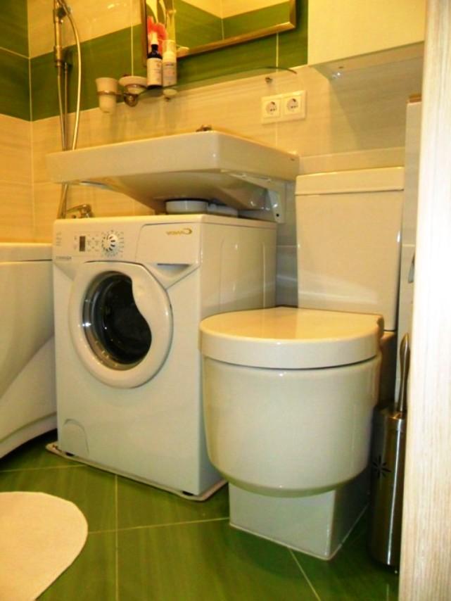 Размещение стиральной машины в ванной комнате хрущевке