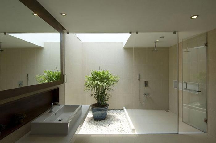 Ванна в стиле минимализм аксессуары