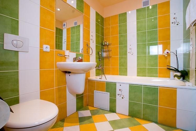 Желто зеленая ванная