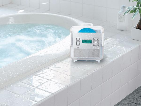 CD плеер с FM радио для ванной