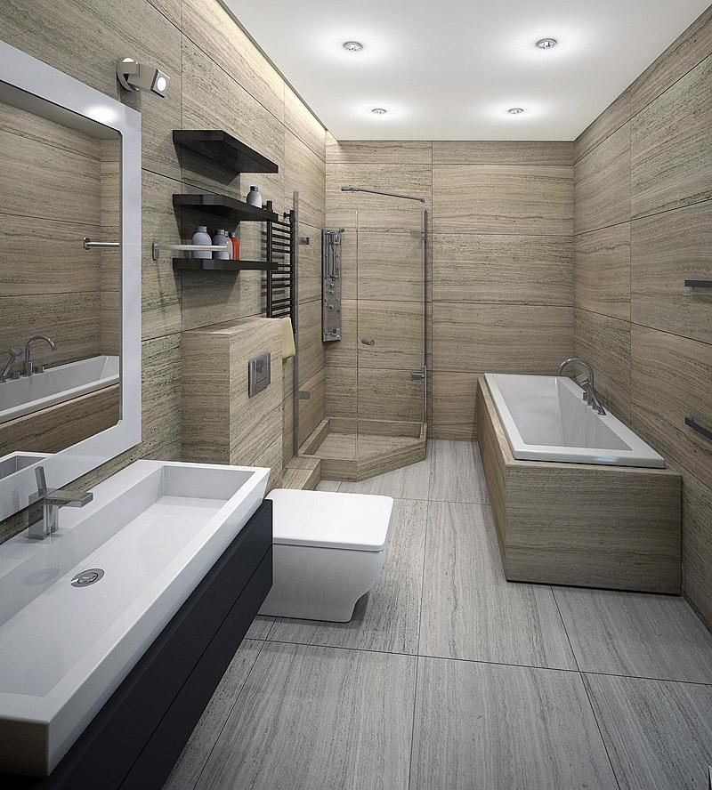 Дизайн ванной комнаты в стиле минимализм