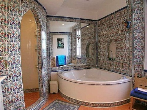 Дизайн ванной комнаты в восточном стиле