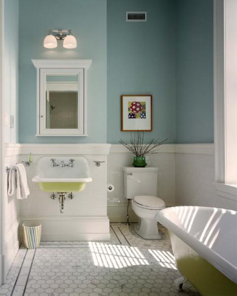 Вариант ванной комнаты маленького размера