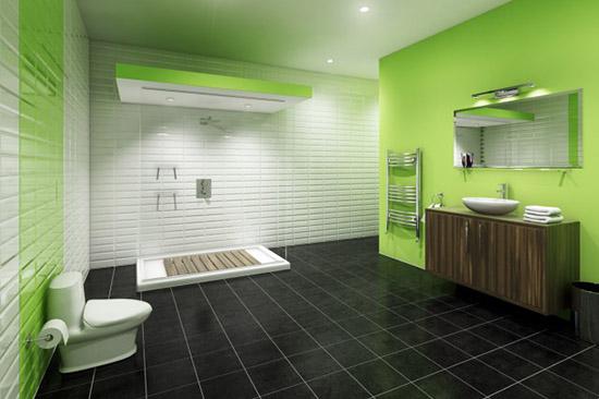 Идеи дизайна ванной комнаты в зеленых тонах