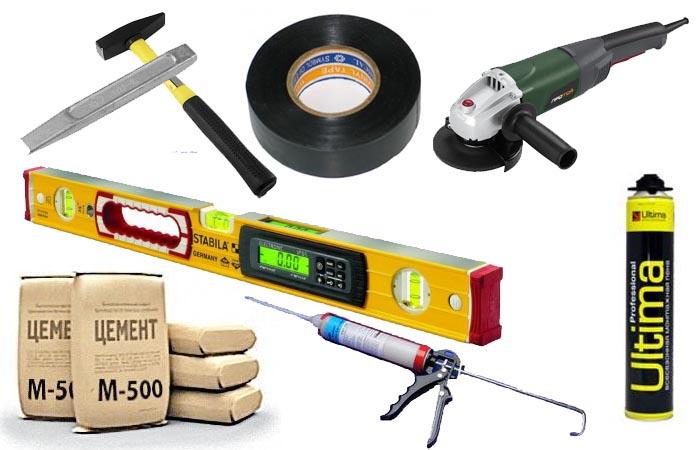Инструменты, необходимые для установки поддона душа