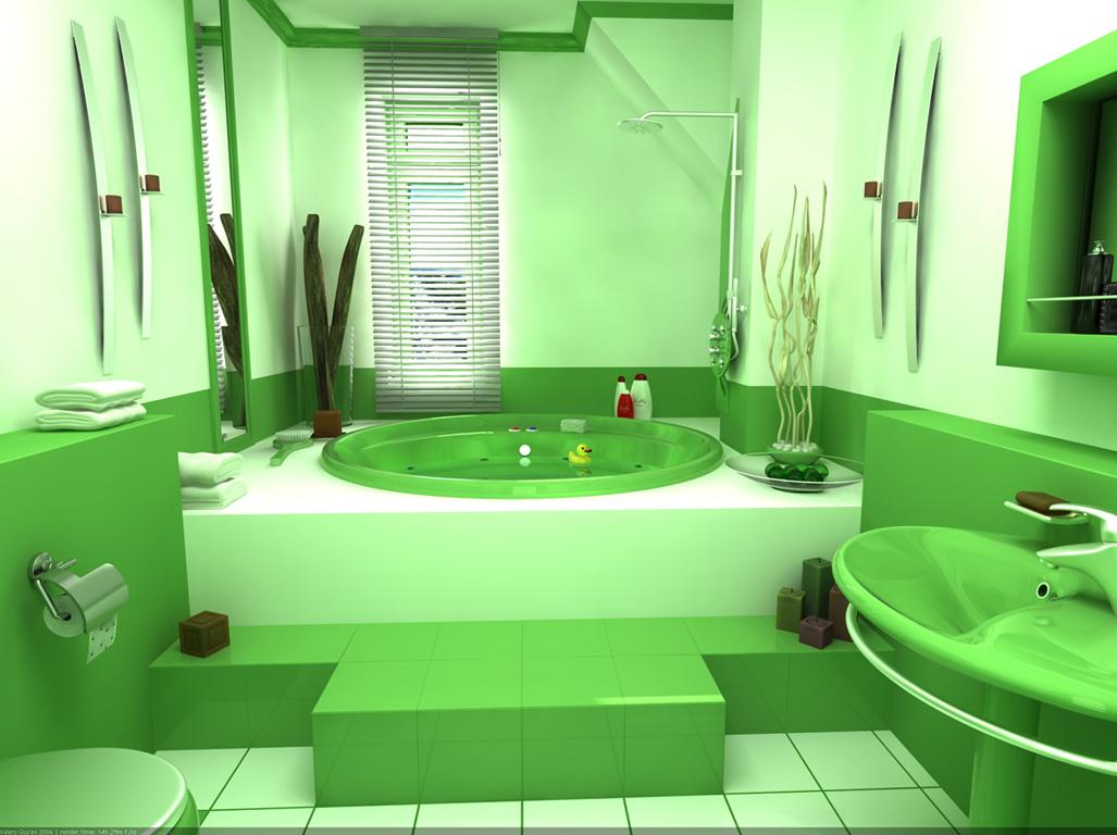 Использование контрастной по цвету полосы позволяет визуально расширить пространство комнаты