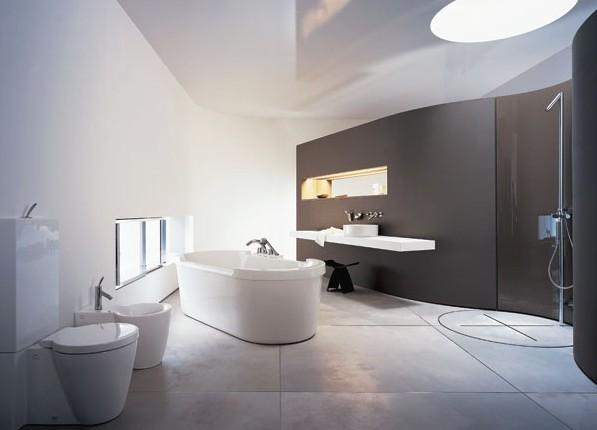 Концепция минималистской ванной комнаты