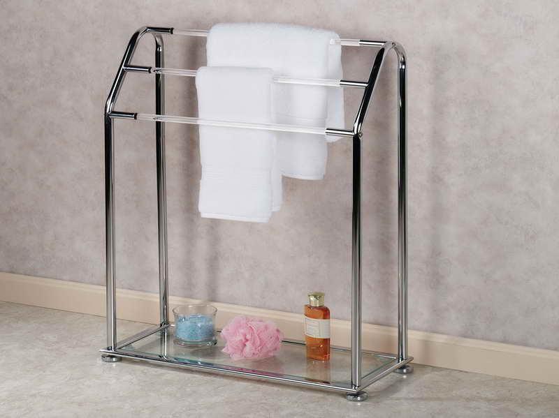 Напольная вешалка для полотенец в ванной