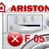 Ошибки стиральной машинки аристон