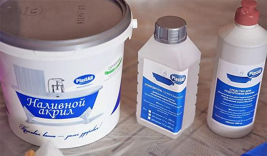 Необходимые компоненты для восстановления ванны