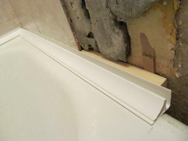 Как сделать углы в ванной из пластиковых  971