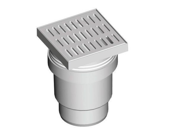 Пластиковый трап с вертикальным отводом