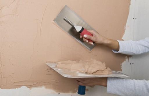 Процесс выравнивания стен