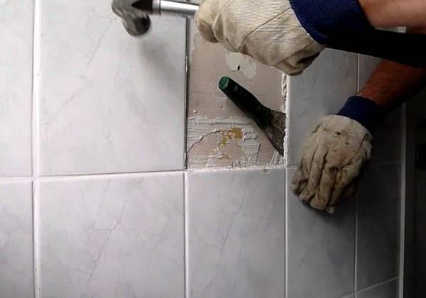 Работы по снятию плитки с сохранением