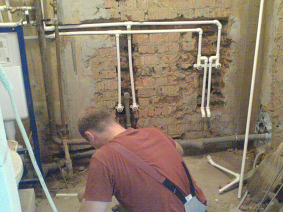 Разводка канализации ванной комнате
