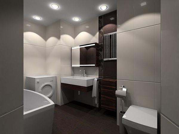 Цветовая гамма ванной комнаты в стиле минимализм