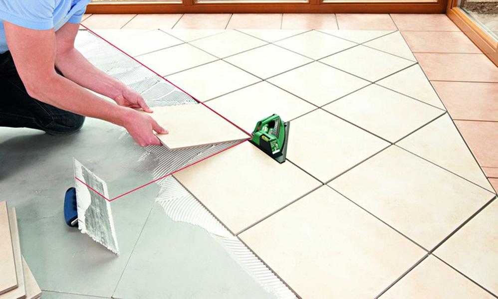Укладка плитки на пол по диагонали