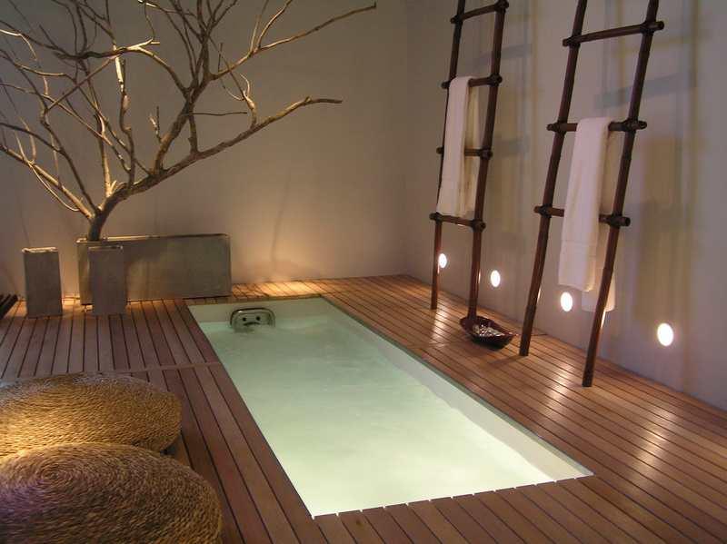 Ванная с интерьером япония