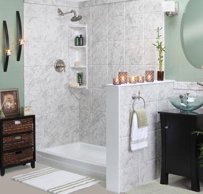 Визуальное зонирование ванны