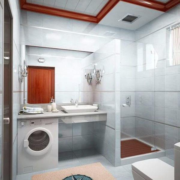 Дизайн ванной с открытой душевой