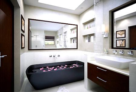 Интерьер ванной в хай-тек стиле