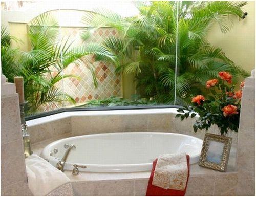 Как выглядит ванная с цветами