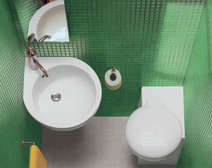 Маленькие ванные комнаты, угловая сантехника