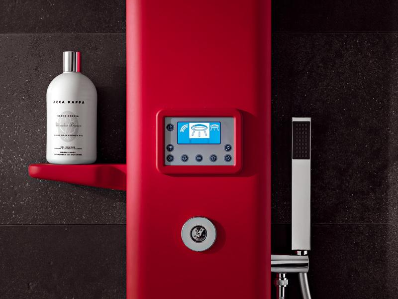 Радио встроенное в стойку в ванной