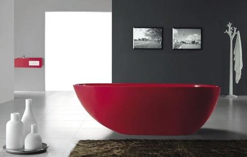 Выбор цвета в ванной комнате стиля хай тек