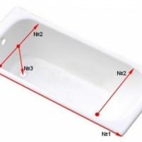 Размеры акриловых ванн