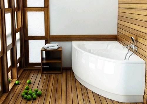 Деревянные полы в ванной в деревянном доме