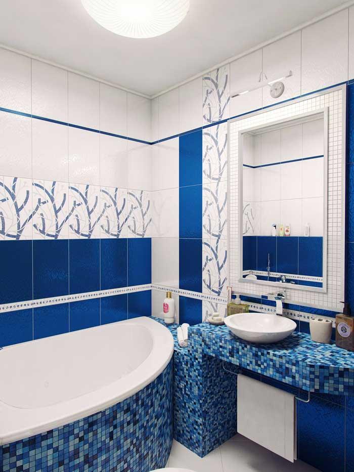 Дизайн маленькой ванны в хрущевке выиграет, если прямоугольную ванну для экономии места заменить угловой