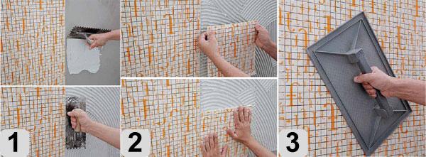 Как правильно класть мозаику в ванной
