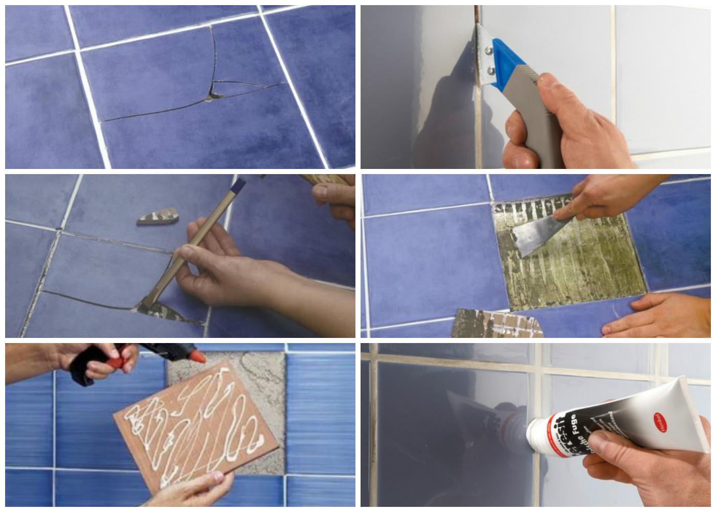 Картинки по запросу Замена поврежденной керамической плитки