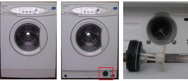 Фильтр насоса стиральной машинки