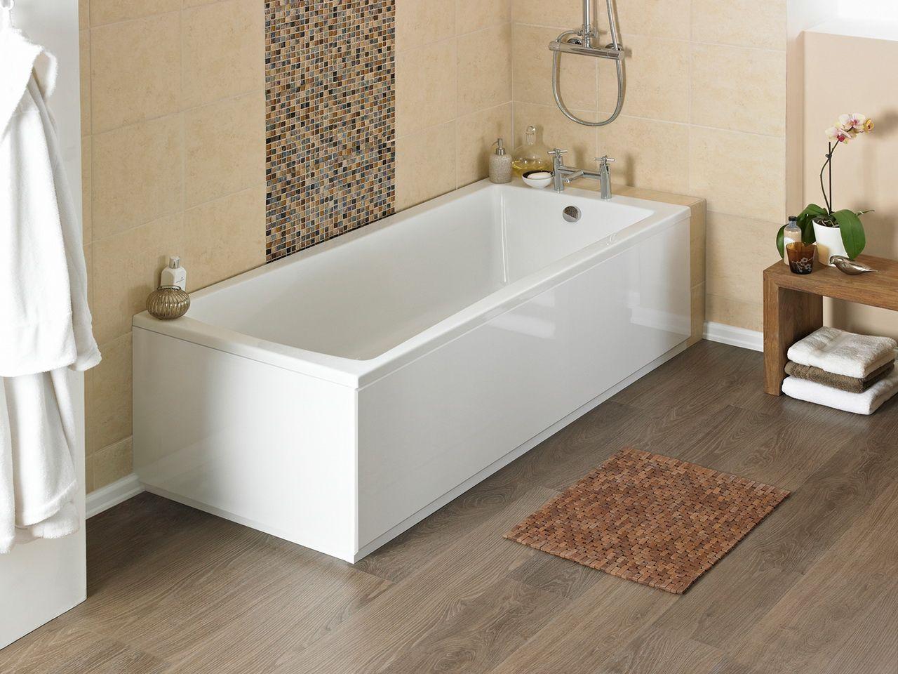 Ламинат на полу в ванной