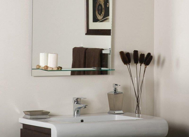 Стеклянные полки для зеркал ванной