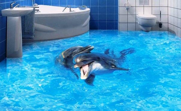 Наливной пол для ванной