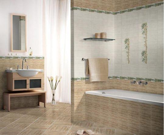 Плитка для ванной комнаты может быть настенной и напольной