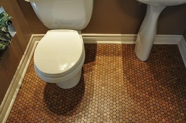 фото пробковое ванной покрытие в