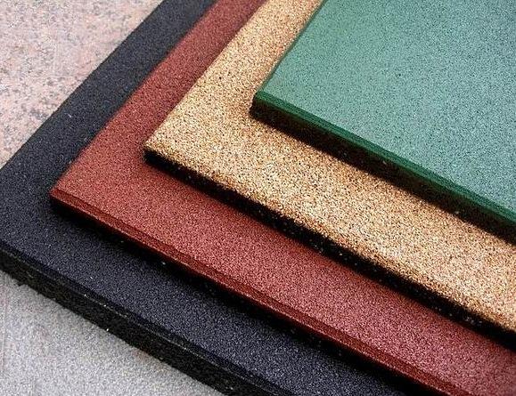 Резиновый вид плитки на пол